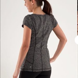 Lululemon Dark Grey Shirt Shortsleeve Ruching 6